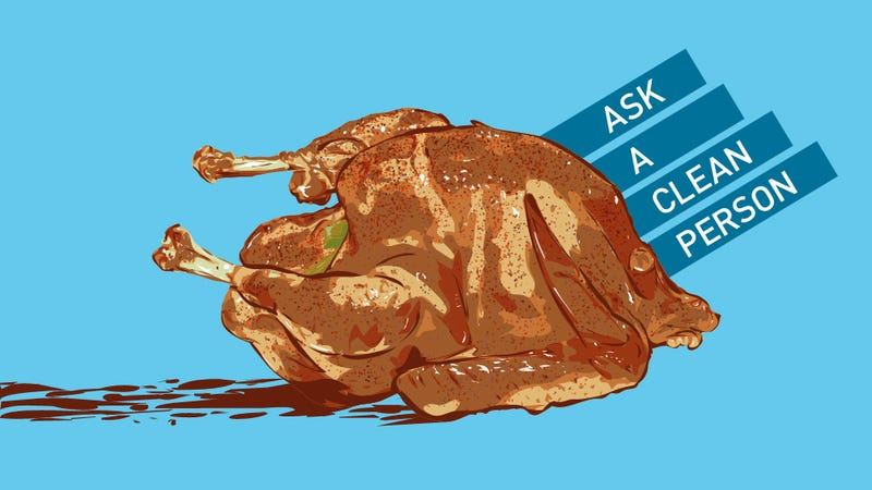 Illustration for article titled A Guide For Cleaning Every Possible Thanksgiving Stain (Like Blood)