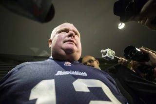 Illustration for article titled Argonauts Not Happy Rob Ford Talked About Eating Pussy In Their Jersey