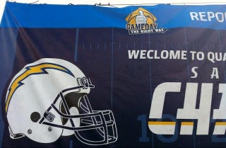 Illustration for article titled Chargers Greet Fans At Stadium With Big Ol' Typo