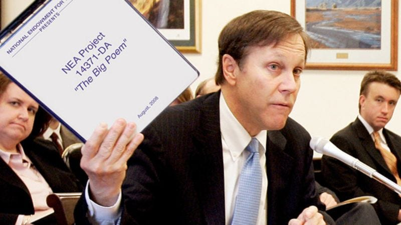 NEA chairman Mark Barnes announces the allocation of $45 million for additional dashes.