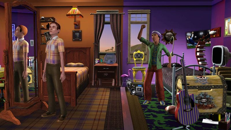 Illustration for article titled Viking-ninja romance and exploding barbecues: Readers share their Sims misadventures