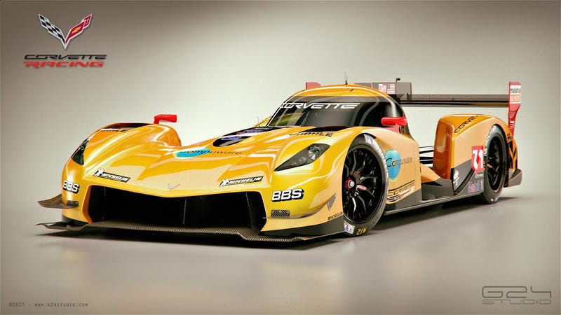 Illustration for article titled What If Corvette Racing Ran A Le Mans Prototype?