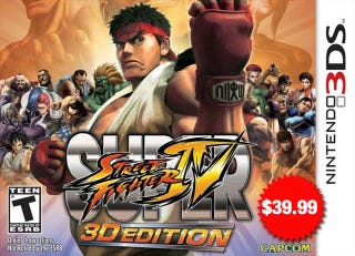Illustration for article titled Is Super Street Fighter IV 3DS Setting The Bar For 3DS Game Prices?