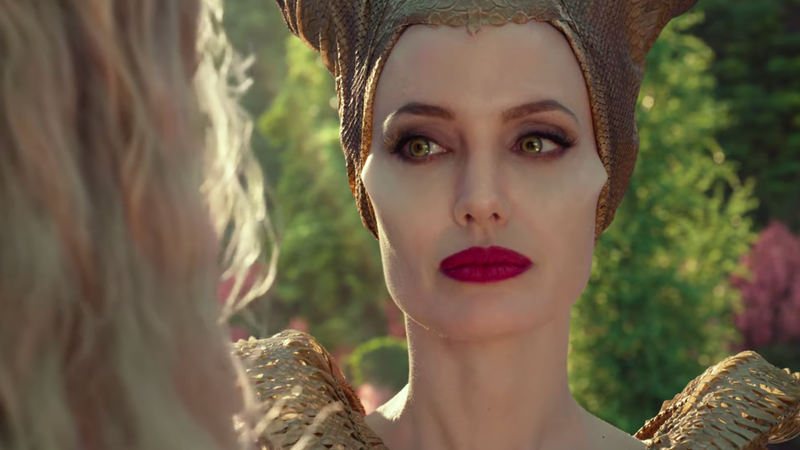Maleficent and her cheekbones of ultimate evil are back.