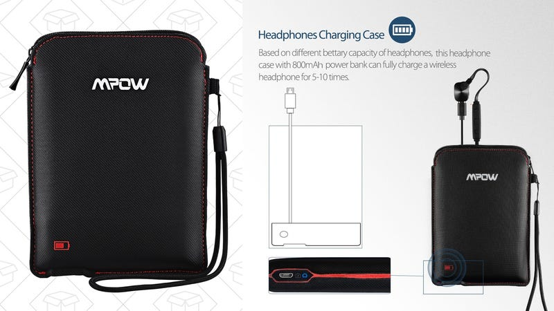 Mpow Portable Battery Case for Bluetooth Headphones, $11 with code W6FDDBHM