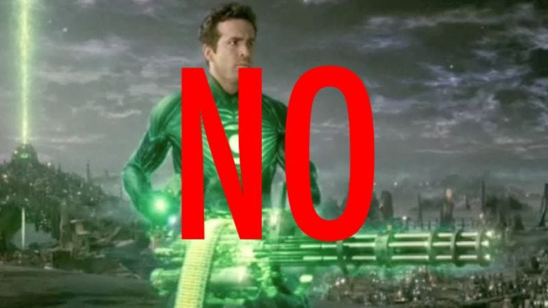 Illustration for article titled Ryan Reynolds doesn't want to be Green Lantern again, in what we'll just pretend is a setback for Justice League