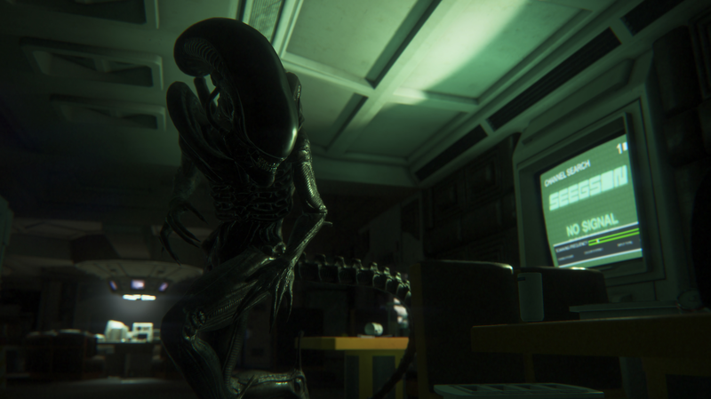 The alien, hunting Amanda Ripley in Alien: Isolation.