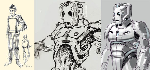 Exclusive Doctor Who Concept Art Reveals the Earliest Visions of the Cybermen!
