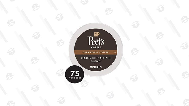 Peet's Coffee Major Dickason's Blend, 75-Count K Cup | $26 | Amazon | Clip $5 Coupon at Checkout