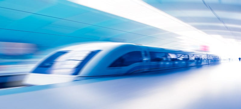 Illustration for article titled China's Maglev Train Prototype Could Reach Speeds of 1,800 MPH