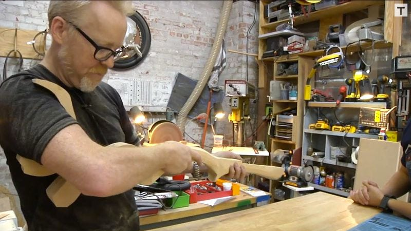 Illustration for article titled Watch Adam Savage build Barbarella's space rifle from start to finish