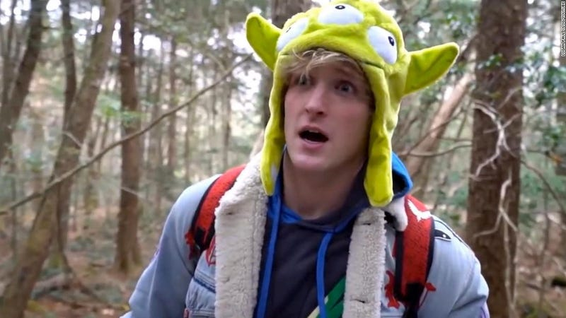 Illustration for article titled YouTube no descarta volver a trabajar con Logan Paul, el Youtuber que subió un vídeo de un cadáver