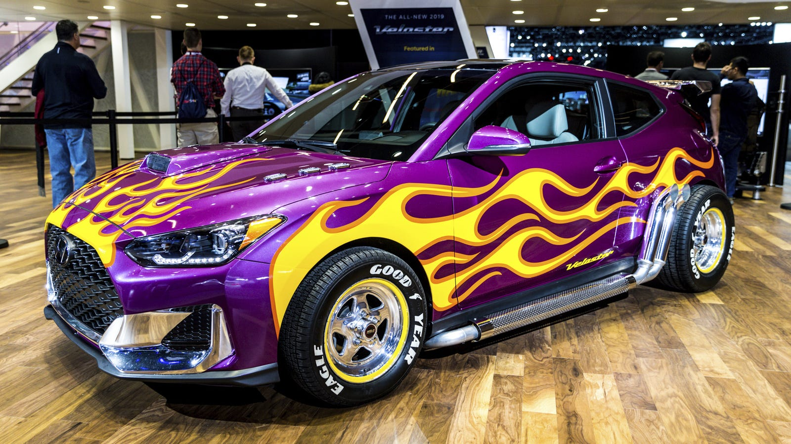 My favorite car at the detroit auto show was a joke for New paint car