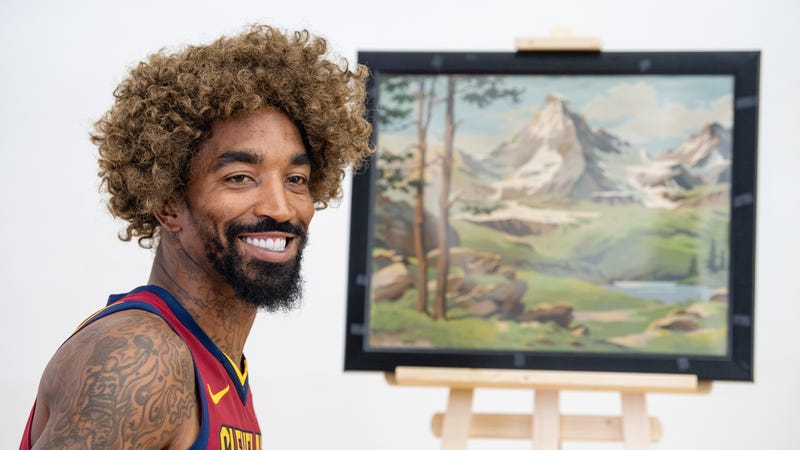 """Illustration for article titled Report: The NBA Will Fine J.R. Smith If He Doesn't Cover Up His """"Supreme"""" Logo Tattoo Next Season"""