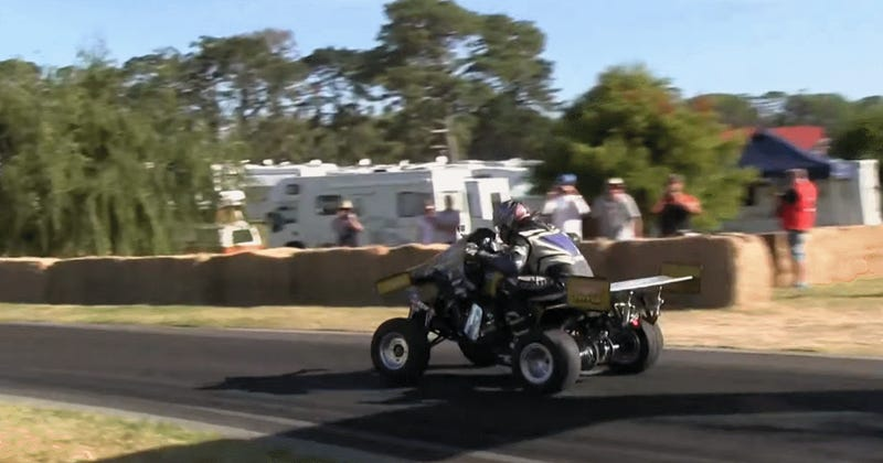This Bonkers Hillclimbing Quad Has Active Aero And A GSX-R1000 Motor
