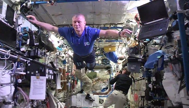 Illustration for article titled La tripulación de la ISS hace el primer mannequin challengeen microgravedad
