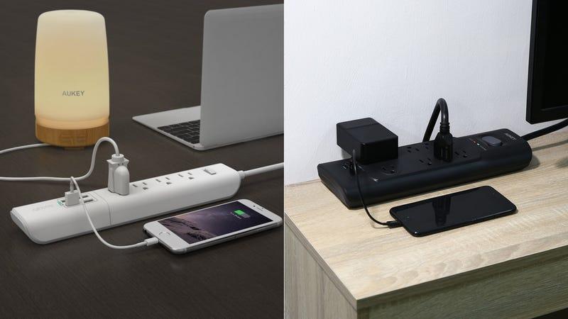 Multicontacto Aukey con cuatro enchufes y cuatro puertos USB | $16 | Amazon | Usa el código AUKEYAS8Multicontacto Aukey con ocho enchufes y dos puertos USB | $22 | Amazon | Usa el código AUKEYAD2