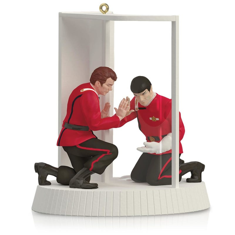 Illustration for article titled The True Meaning of Christmas Is Obviously Watching Spock Die of Radiation Poisoning