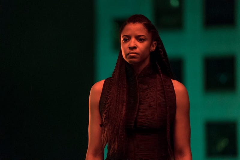 Renée Elise Goldsberry as Quellcrist Falconer in Altered Carbon (courtesy of Netflix)