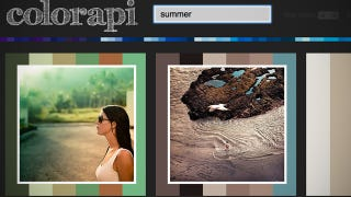 Illustration for article titled Colorapi Provides Photo-Inspired Color Swatches with a Simple Search Term