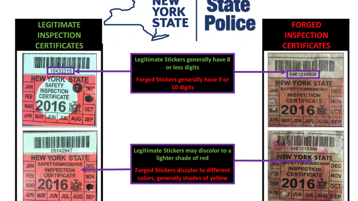 This Homemade New York State Inspection Sticker Really Nails It