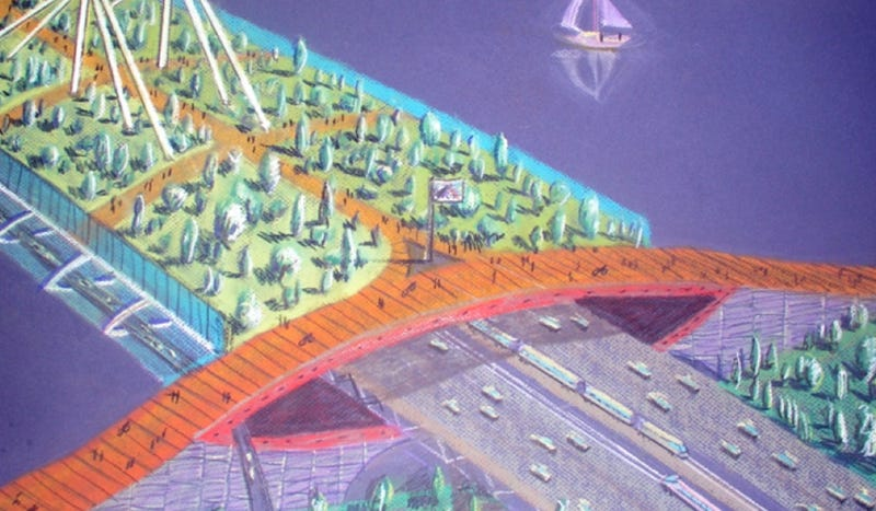 Illustration for article titled The incredible bridge design that could take Portland into the future