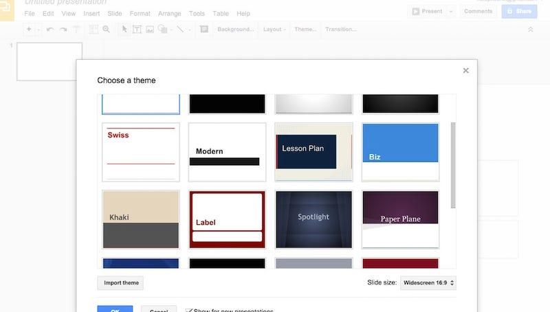Online presentation creator