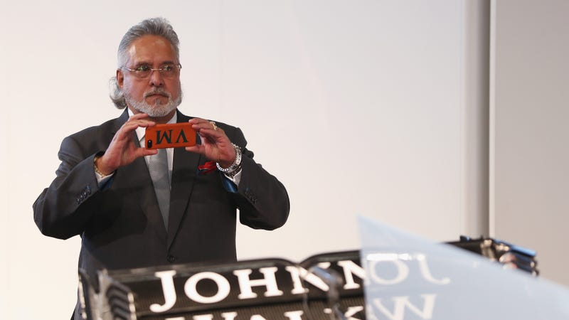 Force India co-owner Vijay Mallya at the team's launch in February. Photo credit: Mark Thompson/Getty Images