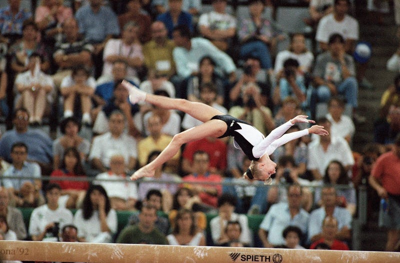 Tatiana Gutsu at the 1992 Olympics (Stephan Savoia/AP Images)
