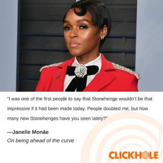 Illustration for article titled JanelleMonáe Said WHAT?!