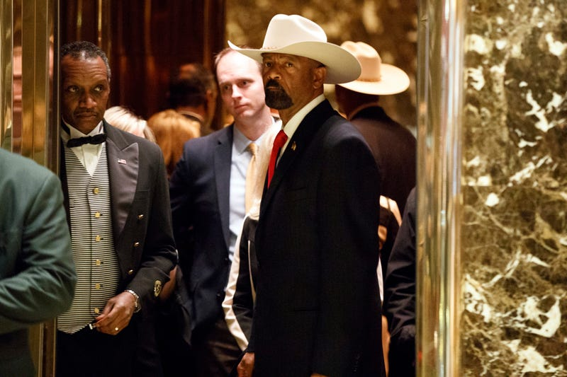 Sheriff David Clarke in his signature cowboy hat. Photo: AP