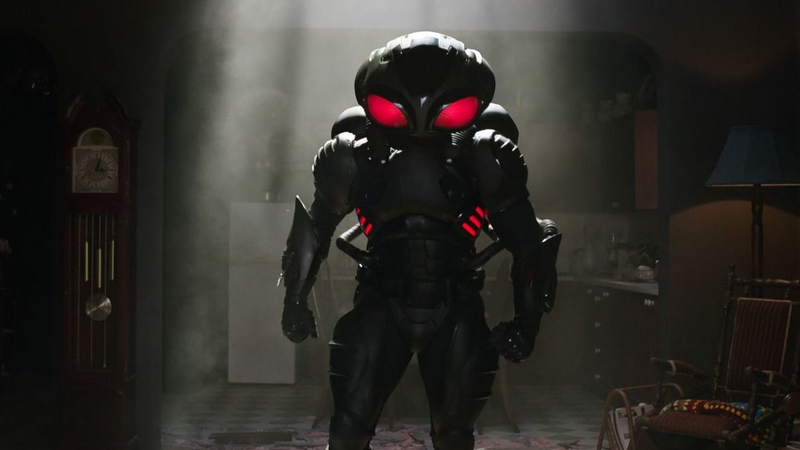 Black Manta, being menacing.
