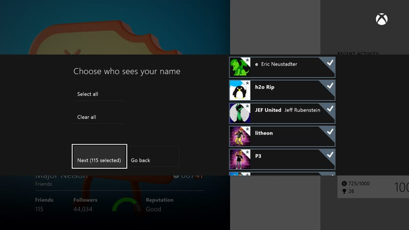 Illustration for article titled June Xbox One Update Adds Real Name Support And Other Handy Options