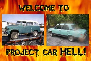 Illustration for article titled Project Car Hell, Cold War Edition: Dodge Power Wagon Town Wagon or Lada Signet?