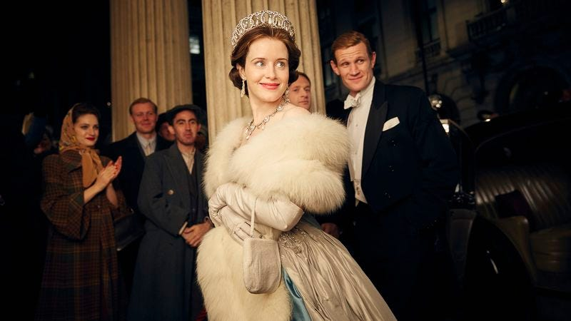 Claire Foy and Matt Smith in The Crown (Photo: Robert Viglasky/Netflix)