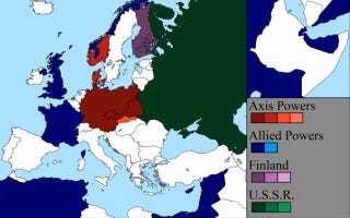 Illustration for article titled La Segunda Guerra Mundial, en siete minutos y un mapa