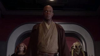 Samuel L. Jackson as Mace Windu in Star Wars: Revenge of the SithRevenge of the Sith via YouTube screenshot