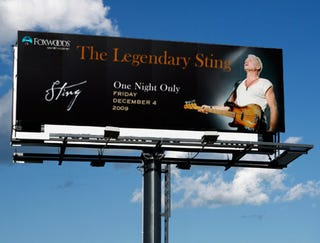 Illustration for article titled Billboard Seems Oddly Proud Sting Will Be Playing At Foxwoods Casino