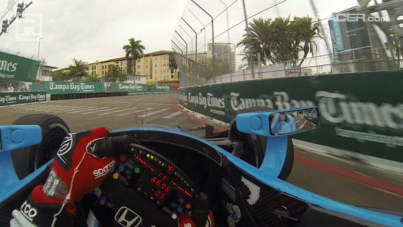 Illustration for article titled IndyCar St. Pete Visor Cam With Simon Pagenaud