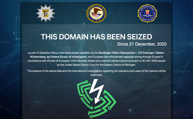 Global Law Enforcement Seizes VPN Network Favored By Cybercriminals