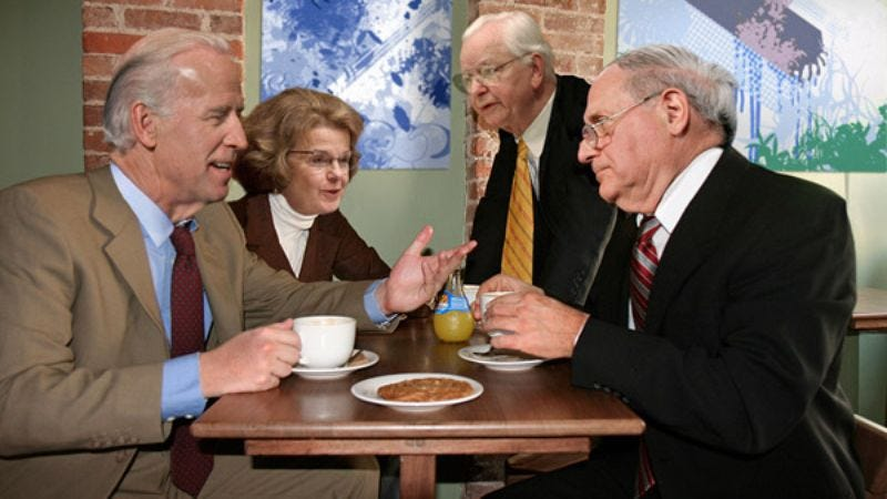 Illustration for article titled Senate Meets At Coffee Shop To Brainstorm Legislation