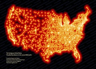 Illustration for article titled 13,000 McDonald's Locations Visualized As They Sink US Into Ocean
