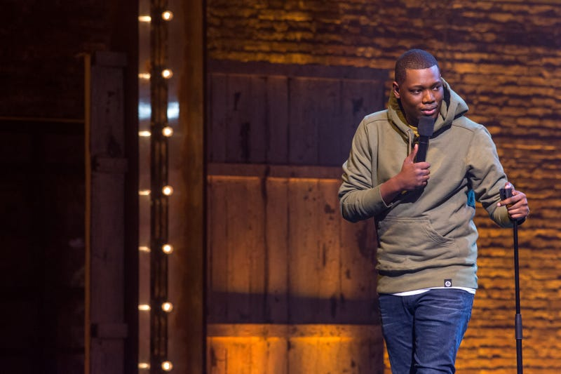 Michael Che in his Netflix comedy special, Michael Che Matters, which drops Nov. 25, 2016K.C. Bailey/Netflix