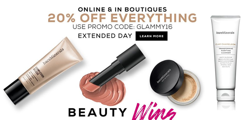 20% off everything with code GLAMMY16