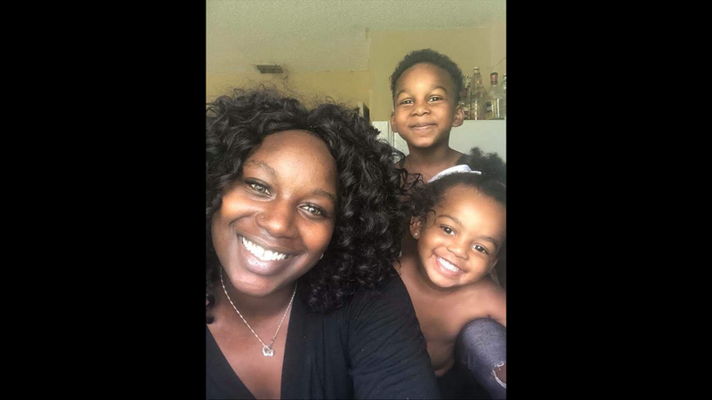 Dyma Loving and her children