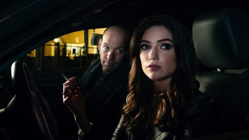 """Corey Stoll and Janet Montgomery in """"The Royal We"""""""