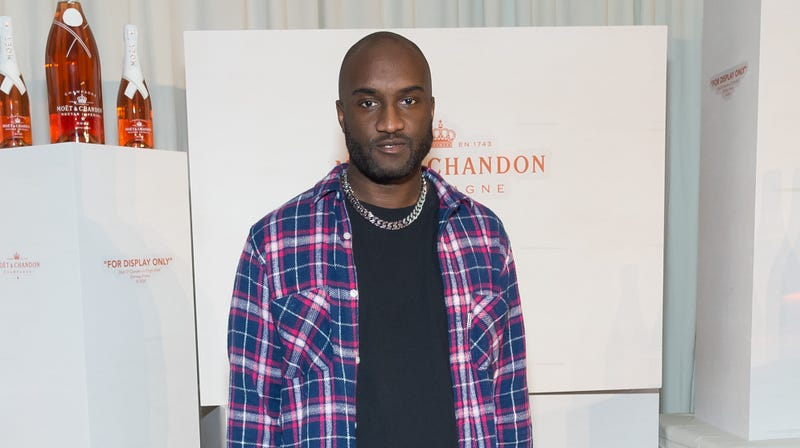 Virgil Abloh attends Moet & Chandon and Virgil Abloh's New Bottle Collaboration Launch at The New Museum on Oct. 16, 2018 in New York City.