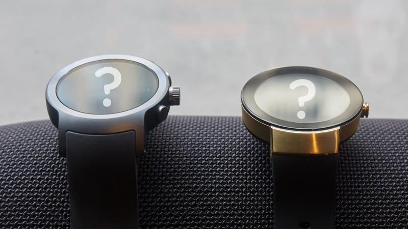 The LG Watch Sport and Movado Connect. (Image: Alex Cranz/Gizmodo)