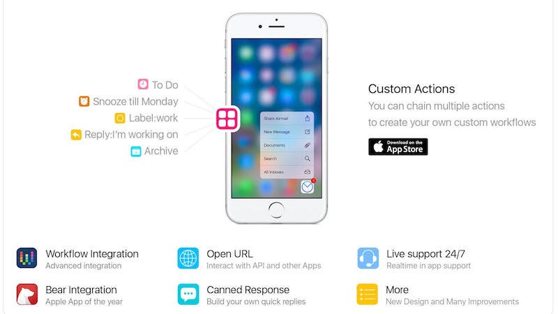 Airmail for iPhone Adds Custom Actions, Workflow Integration, and More