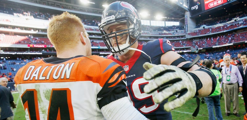 Illustration for article titled J.J. Watt And Andy Dalton Engage In Just The Lamest Beef